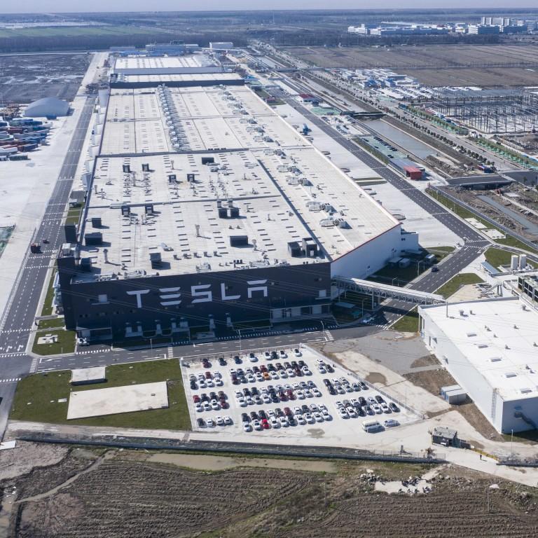 Tesla production at Shanghai Gigafactory
